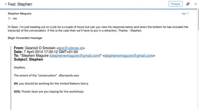 transcript email