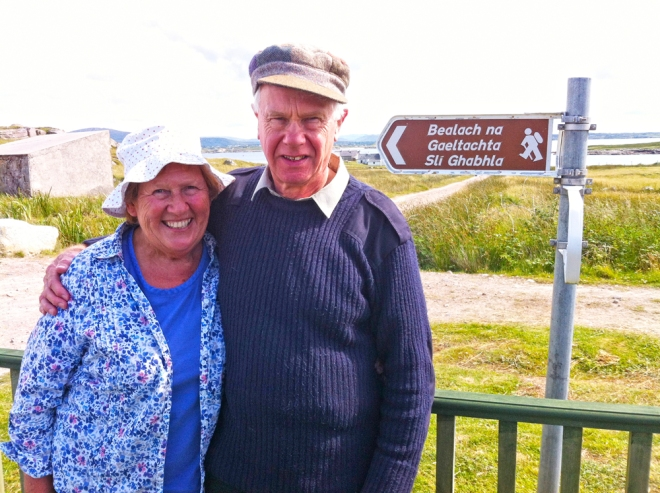 celebrate your engagement, Hollywood couple, visit the Irish islands
