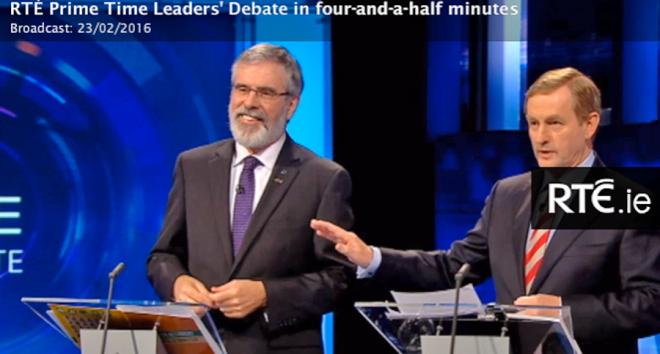 Gerry Adams Sinn Fein, Enda Kenny Fine Gael