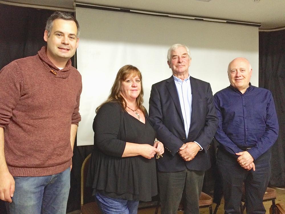Pearse Doherty, Breige Brownlee, Danny Morisson
