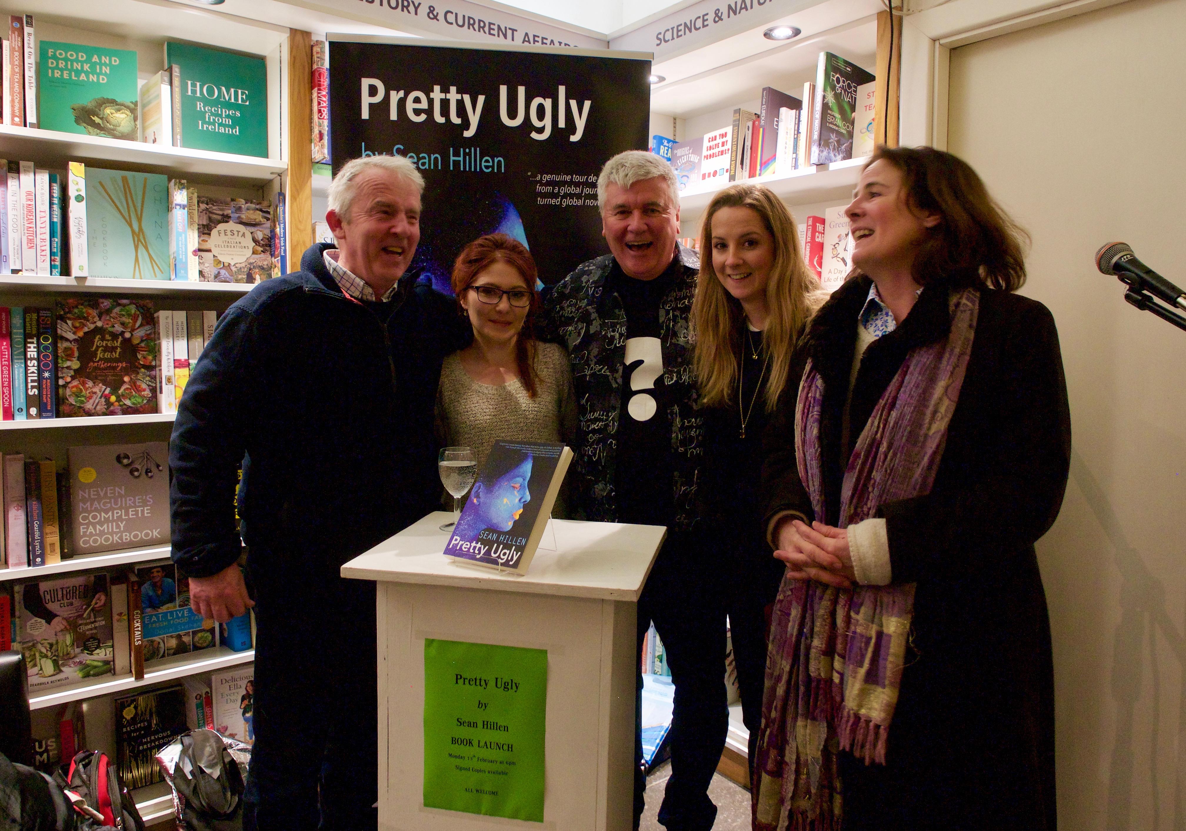 Book launch Pretty Ugly Dublin, Sean Hillen author