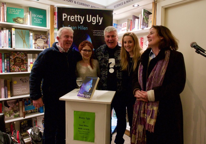 Book launch Pretty Ugly Dublin, Sean Hillen author