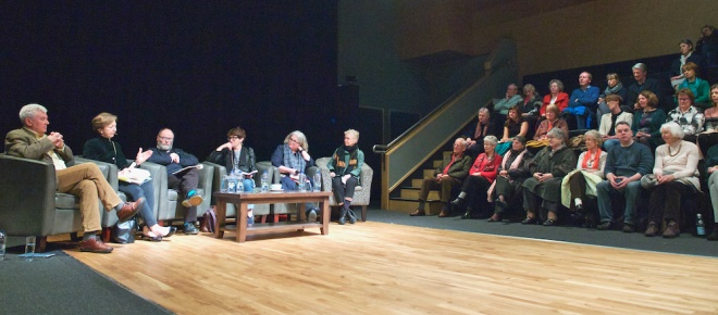 discussions on Seamus Heaney poetry and journalism, Olivia O'Leary, Marie-Louis Muir, Malachi O'Rourke