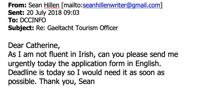Gaeltacht tourism officer, tourism in donegal gaeltacht