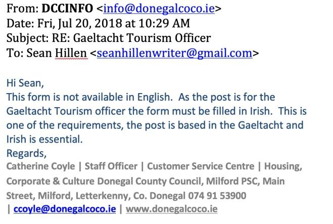 Donegal gaeltacht tourism, visit gaeltacht donegal, gaeltacht tourism officer